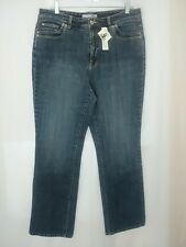 Chicos Platinum Jeans Size 2 Regular 33 X 30 Medium Stretch Straight Boot Womens