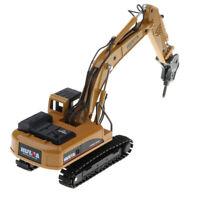 1/50 Diecast Drill Excavator Engineering Vehicle Construction Model Toy Boy