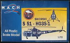 MACH 2 - SIKORSKI S 51-H03S-1 - 1:72 - Hubschrauber Modellbausatz - Model KIT