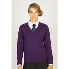 Trutex Girls Fit Cotton V-neck School Jumper Size Small 13 Years Dh085 II 14