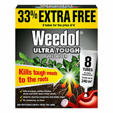 More details for weedol ultra tough weedkiller 8 liquid concentrate tubes kills weeds 6 + 2 free