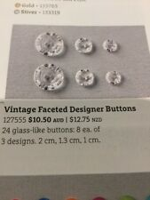Stampin Up Embellishments: Vintage Faceted Designer Buttons