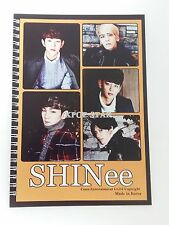 SHINEE Note Book Exercise Book Workbook KPOP MinHo TaeMin Key JongHyun OnYoo