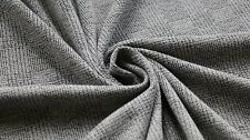 JERSEY FABRIC - CHECK DESIGN - GREY & BLACK