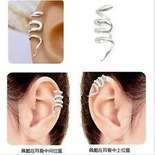 EAR CUFF CLIP WRAP top bone LURE EARRING GOTHIC PUNK ROCK STUD UK seller Silver