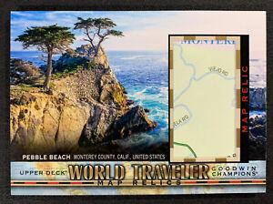 2018 Goodwin Champions Pebble Beach California World Traveler Map Relics