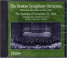 KOUSSEVITZKY: TCHAIKOVSKY Symphony No.5 BSO Sessions 1944 CD Berlioz Debussy