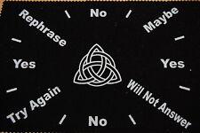 Triquetra Celtic Pendulum Mat 8 x 12, Dowsing, Scrying, Wicca,