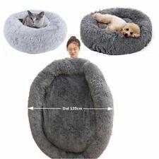 Pet Dog Cat Calming Bed Comfy Shag Warm Fluffy Bed Nest Mattress Donut Pad Sofa