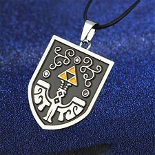 Anime The Legend of Zelda Shield Marks Metal Pendant Necklace Cosplay Charm New