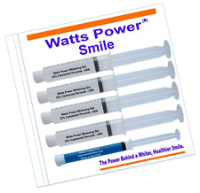 Watts Power PRO 35% Teeth Whitening Gel - 4 Pack Huge 10ml Whitening Gels 80 Txs
