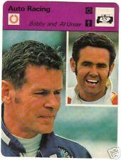 1977 Bobby & Al Unser Sportscaster Auto Racing #16-04