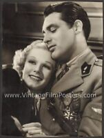 JEAN HARLOW & CARY GRANT original Virgil APGER 1936 Double-Weight Portrait, SUZY