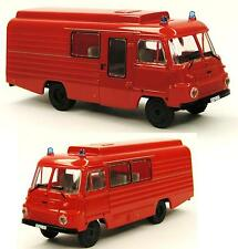 H0 Robur LD 3000 FrM5/Mz8 Diesel Kastenwagen Feuerwehr Blaulicht DDR Mannschaft