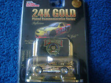 Lot Limited Ed. 24K Gold Plated & Platinum Racing Champions Nascar Die-Cast 1:64