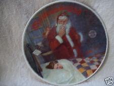 "Norman Rockwell 1986 ""Deer Santy Claus"" Edwin Knowles 8 1/4"" Plate"