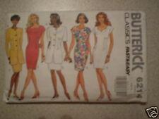 Vintage Butterick Pattern Dress Jacket 6 8 10 6214 SEW