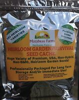 101 Different VARIETIES! HEIRLOOM, GARDEN/SURVIVAL SEED CACHE WITH $15 HERB PACK