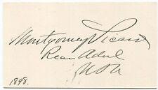 1898 Civil War Naval Officer Rear Admiral Montgomery Sicard Signature