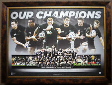 Rugby World Cup New Zealand All Blacks 2015 Champions Official Print Framed