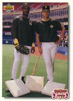Barry Bonds 1992 Upper Deck Pittsburgh Pirates Baseball Card #711 Andy Van Slyke