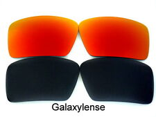 Galaxy Replacement Lenses For Oakley Big Taco Black&Red Polarized 2Pairs