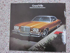 1974 Pontiac Grand Ville Sales Brochure Color Folder Facts, Figures, Features