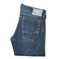 Replay Damen Damen Jeans Denim Größe W30 L32 Dunkelblau Zip Fly Original