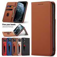 For iPhone 12 Pro Max 11 Xr 8 7 6s Plus Magnetic Flip Leather Wallet Case Cover