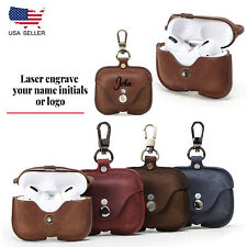 For Apple AirPods Pro Leather Case Cover Personalized Gift For Men Women