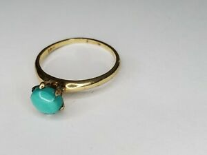 Solid 14k Gold Turquoise Ring scrap or wear