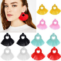 Boho Women's Alloy Vintage Long Tassel Fringe Drop Dangle Hook Earrings Ear Stud
