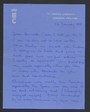 Princess Michael of Kent Signed Letter 1979 Christmas with Queen Elizabeth II