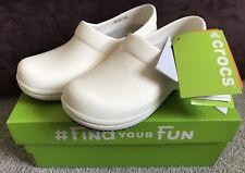 Crocs Neria Pro Clogs Shoes Slip on Beach White Womens Girls Ladies Uk3 Eu34-35
