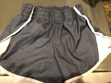 Athletic Works Girls Active Running Polyester Shorts Grey Stars Sz L 10/12 Plus