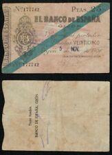 Gijón 25 Pesetas 1936. Caja Central de Depósitos. Nº 177742.