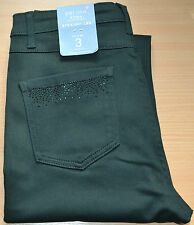 LADIES M&S PER UNA ROMA STRAIGHT LEG JEANS WITH STRETCH SIZE 8 SHORT GREEN BNWT