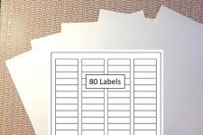"""Generic Return Mailing Labels, 5 sheets of 80 each, 400 labels, 1/2"""" x 1-3/4"""""""