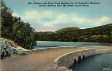 Postcard 122 Viaduct Over Otter Creek Showing Top Of Champlain Mountain Acadia