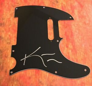 GFA Nile Band Guitarist KARL SANDERS Signed Electric Tele Pickguard COA