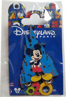 Exclusive Disneyland Paris 2020 Mickey Mouse & Castle Dangling Pin Badge