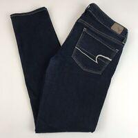 American Eagle Skinny Jeans Women's 2 Short Stretch Dark Wash