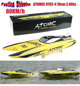 Volantex V792-4 70cm ATOMIC 2.4Ghz 1800KV Brushless RTR 60 km/h RC Racing Boat ❤