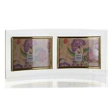 Sixtrees Curved Bevelled Glass Gold 5x3.5 Photo Frame Horizontal Double