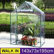 New Walk-In Greenhouse PVC Plastic Garden Grow Green House with 6 or 8  UK
