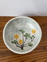 Vintage Salt Marsh Pottery Dartmouth MA Floral Wall Art Bowl