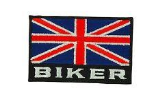 Patch toppe toppa ricamate termoadesiva bandiera regno unito uk biker backpack