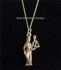 Sterling Silver Lawyers Necklace Paralegal Law Graduation Gift Lady Justice USA