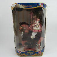 Collector's Choice Genuine Fine Bisque Porcelain Doll On Carousel Certificate