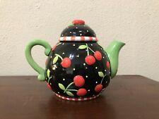 Mary Engelbreit Friendship Garden Cherry Teapot Limited Ed 1993 Hallmark